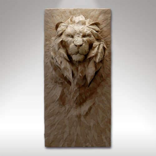 Lion bas-relief visuel