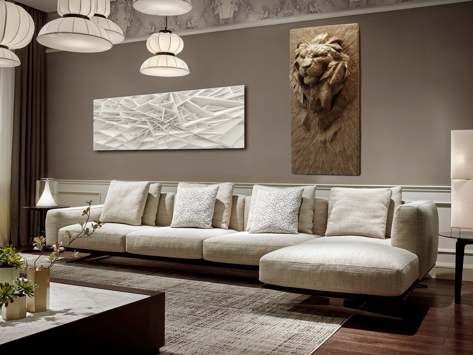 lion living room